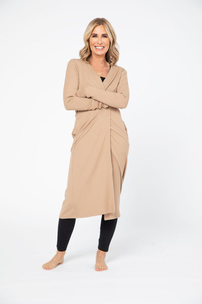 CR X S+T - THE MANHATTAN DUSTER IN CLASSIC CAMEL