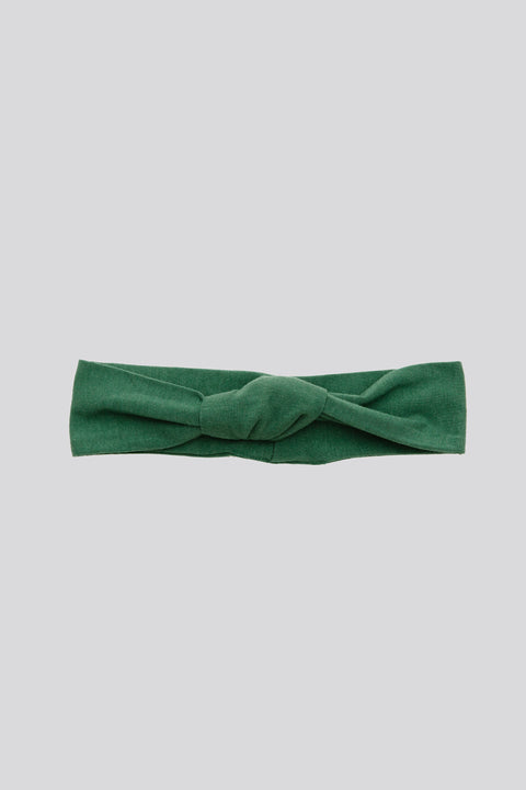 The S+T knotted headband in Evergreen