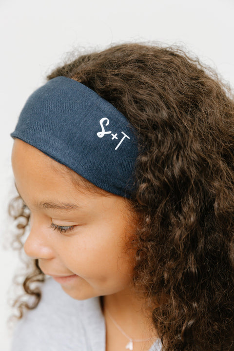 the s+T headband in naturally navy