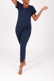 THE S+T ANYDAY ROMPER IN NATURALLY NAVY