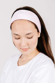 the s+t headband in bubblegum tie dye