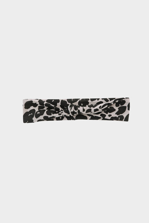 The S+T knotted headband in lexi leopard
