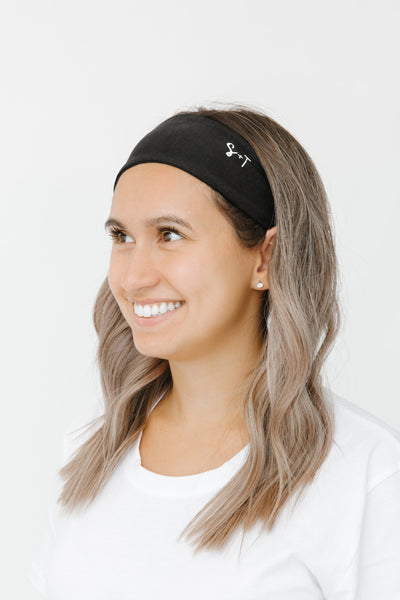 the s+t headband in midnight black