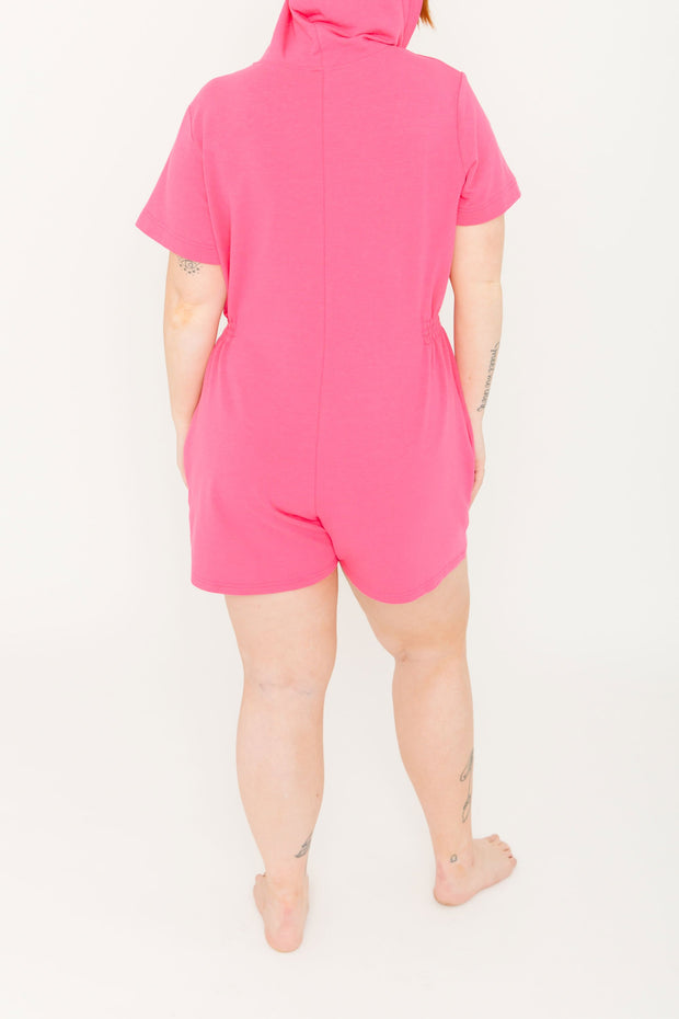 "The S+T Apres Sun Romper | Pascale is 5'9"" wearing size L"