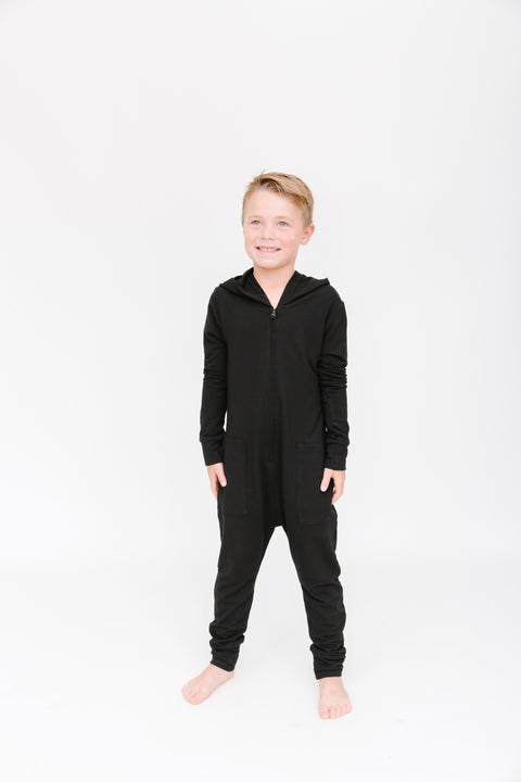 The Mini Jilly Jogger Romper | Rhys is wearing size 8/9