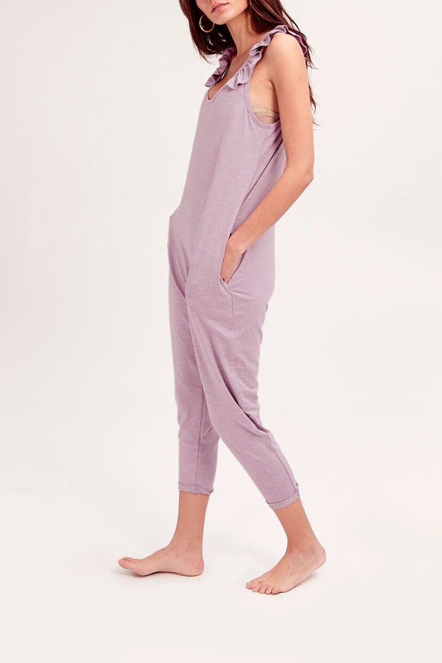 THE SWEETHEART ROMPER IN LUCY LAVENDER
