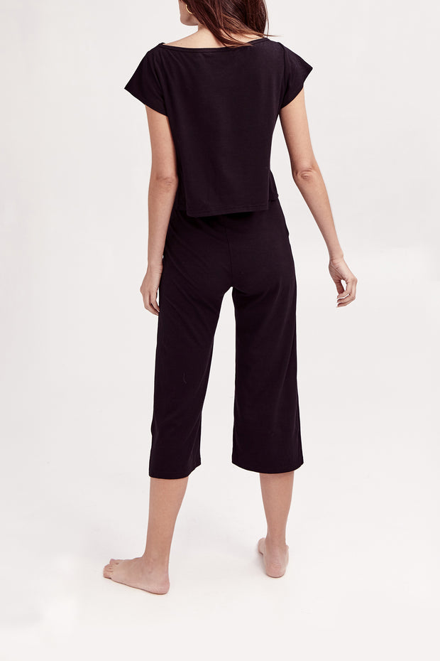 THE PLAY SET PANTS IN MIDNIGHT BLACK