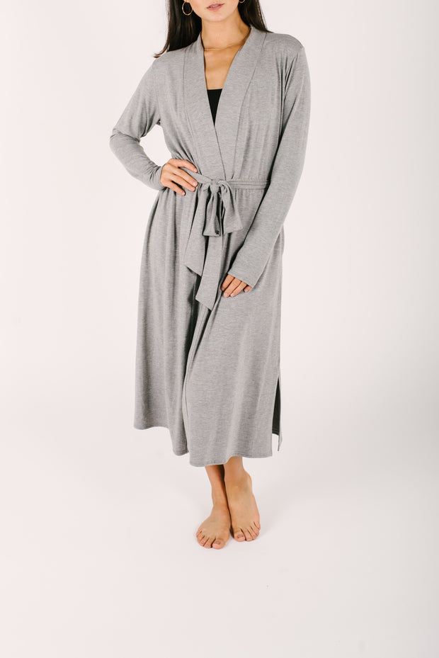 "The Carrie Cardirobe Robe | Nalani is 5'8"" wearing a Small"