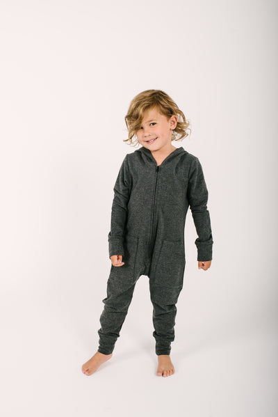 The Mini Jilly Jogger Romper | Oliver is wearing size 4/5