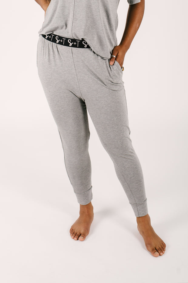 "The Lily Joggers | Maya is 5'8"" wearing a Large"