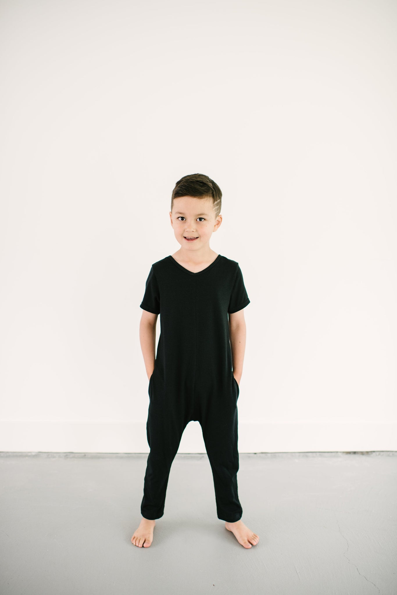 The Mini Sunday Romper, short sleeve jumpsuit for boys