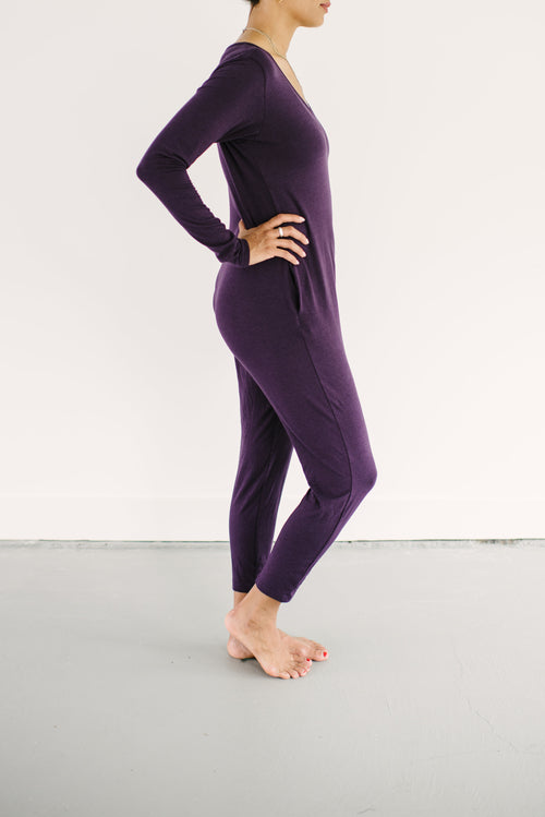 The Friday Romper in Plum | Long sleeve jumpsuit for women, casual jumpsuits for women