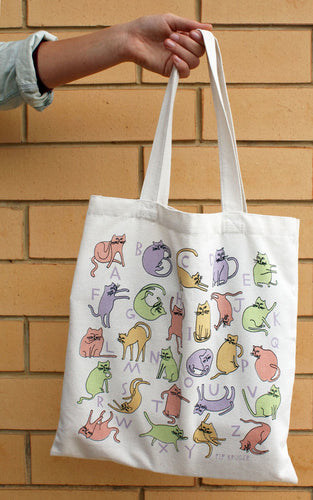 Pip Kruger - Kitty Alphabet Canvas Tote bag