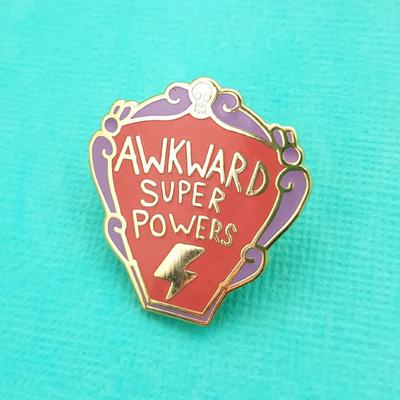 Jubly Umph - AWKWARD SUPER POWERS LAPEL PIN