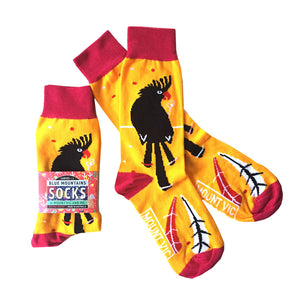 Blue Mountains Socks : Black Cockatoos