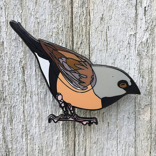 Bridget Farmer -Lapel Pin - Black Throated Finch