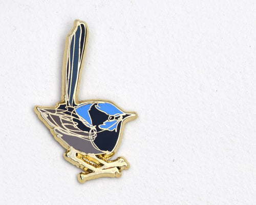 Bridget Farmer - Lapel Pin - Superb Fairy Wren