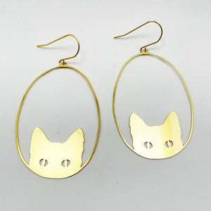 "DENZ ""cats"" statement earrings  - choose your colour!"
