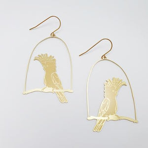 "DENZ ""Major Mitchell"" statement earrings  - in gold"