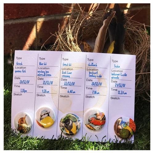 Birdwatcher© 10 badge set by Anorak® (of the feathered variety!)