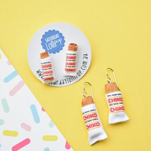 Saturday Lollipop - Food Earrings - Chico Rolls!