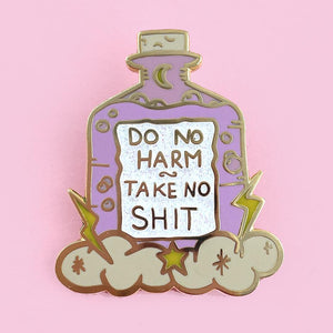 Jubly Umph -  Do No Harm Take No Shit Lapel Pin