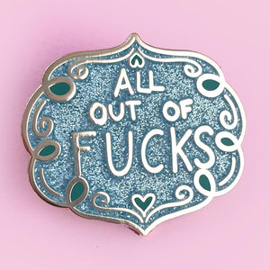 Jubly Umph -  All Out Of Fucks Lapel Pin