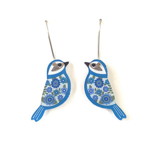 Smyle Designs - mini blue bird Earrings