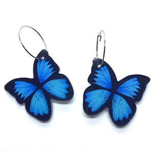 Smyle Designs - Blue butterfly Earrings