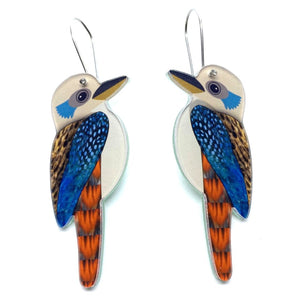 Smyle Designs - Kookaburra Earrings - vinyl record