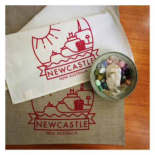 Newcastle© Tea towel by Anorak® (in white or flax) *Second edition with NCC Admin Building*