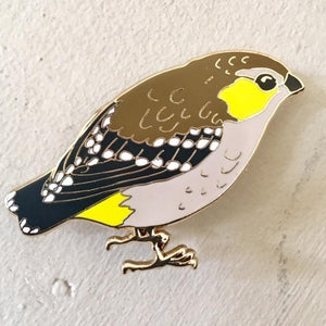 Bridget Farmer - Lapel Pin - Forty Spotted Pardalote