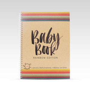 Rhi Creative Rainbow Baby Book for same sex parents