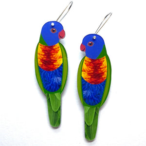 Smyle Designs - Rainbow Lorikeet Earrings