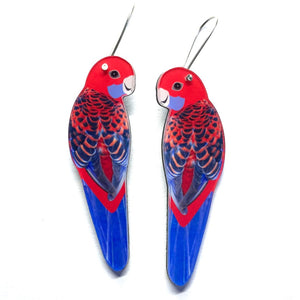 Smyle Designs - Crimson Rosella Earrings