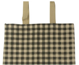 Gingham Tote - Khaki  -  by AGD