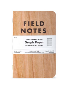 Field Notes - Cherry Graph 3 pack of 48 page memo books