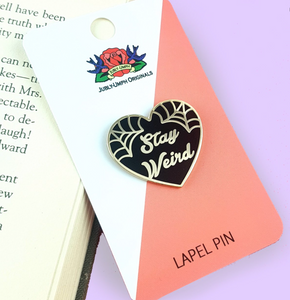Jubly Umph - STAY WEIRD BLACK HEART LAPEL PIN