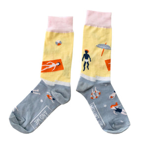 Blue Mountain Socks: The Swimmers