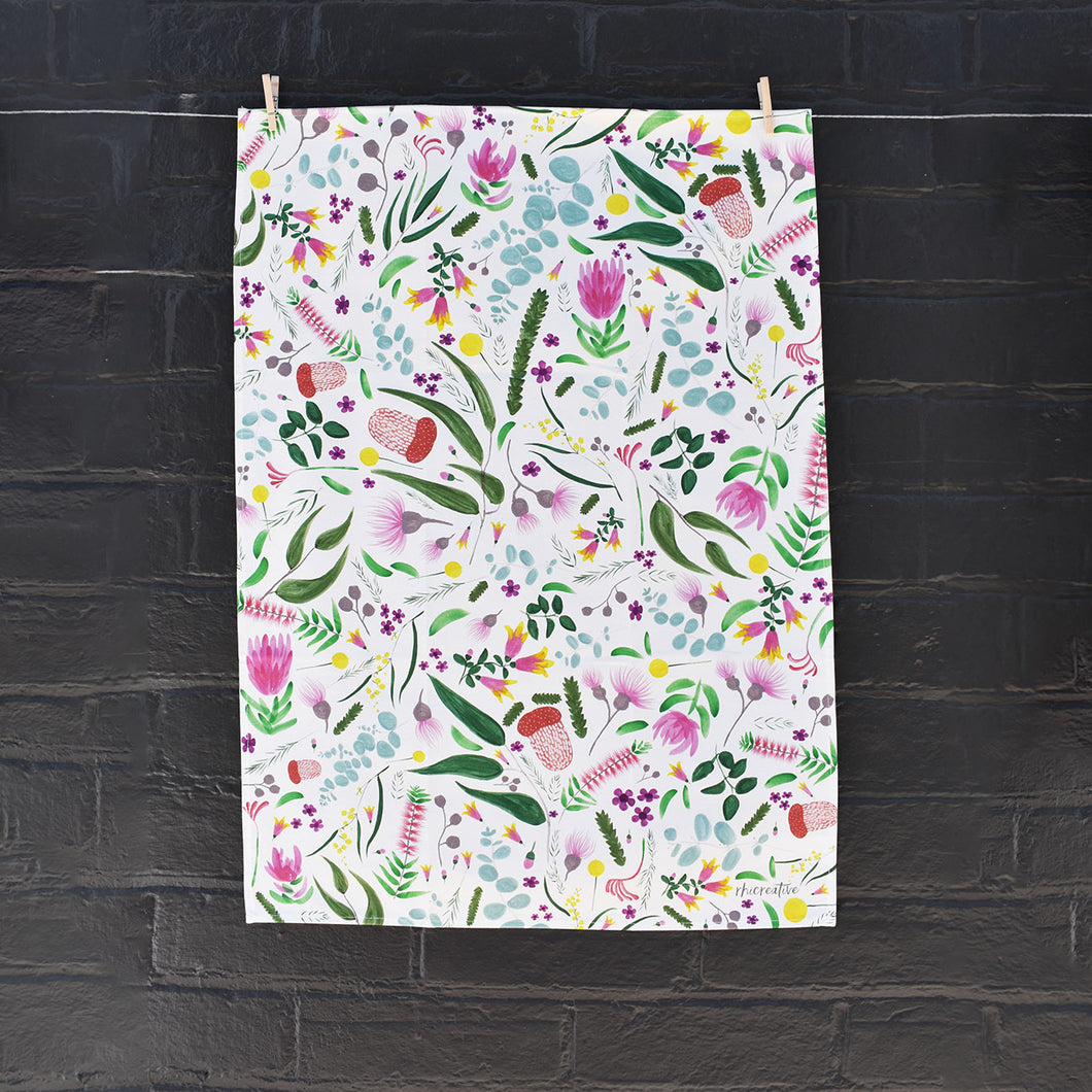 Rhi Creative Australiana Tea Towel