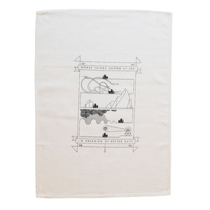 Worse things happen at sea© tea towel by Anorak®