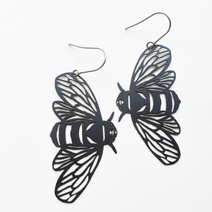 "DENZ ""Bee Dangles"" statement earrings  - black"