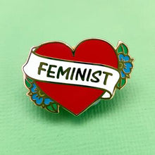 Jubly Umph - FEMINIST HEART LAPEL PIN
