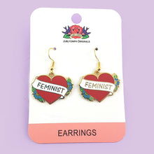 Jubly Umph - Feminist Heart Earrings