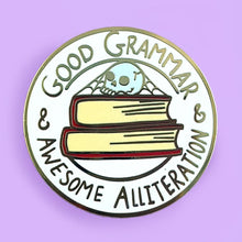 Jubly Umph - Good Grammar & Awesome Alliteration Lapel Pin
