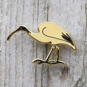 Bridget Farmer - Lapel Pin - White Ibis