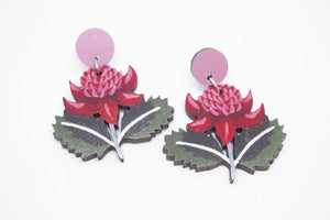 PIxie Nut & Co - Australian Waratah earrings