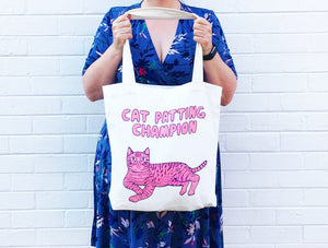 Able & Game - Cat Patting Champion tote