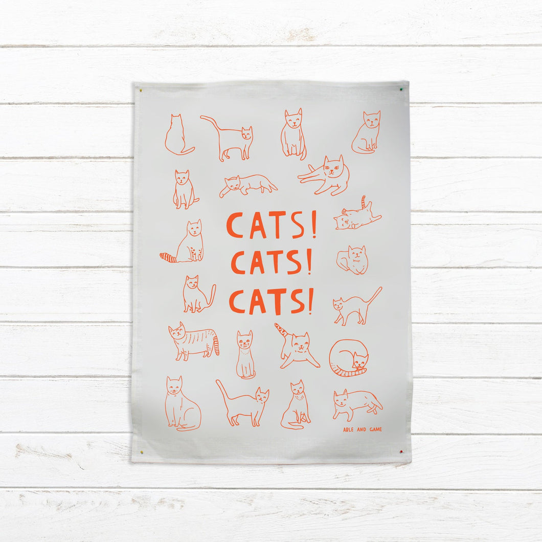 Able & Game - Cats Cats Cats Tea Towel