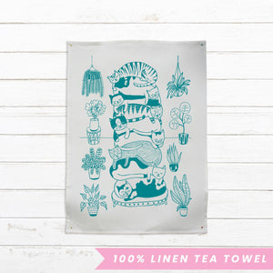 Able & Game - Cat Stack Tea Towel